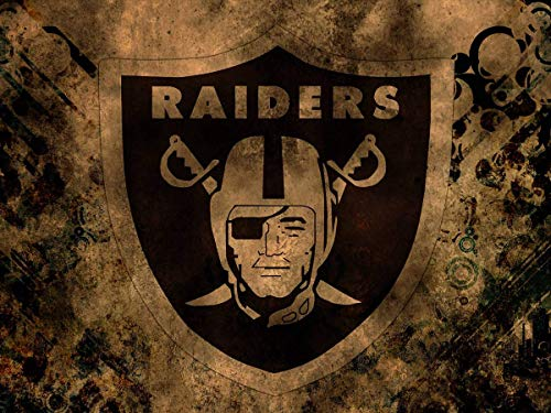 JUSSM Full Square Drill Oakland Raiders Diamond Painting Kit - DIY Cross Stitch Rhinestone Mosaic 30x40cm