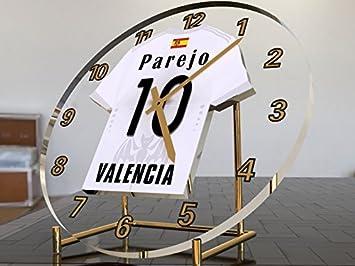 Reloj de sobremesa, diseño de camiseta de fútbol de La Liga española, color Valencia