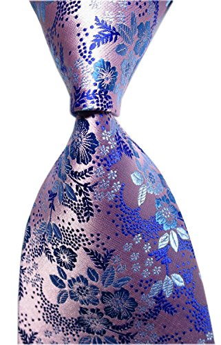 Secdtie Men Big Boys Pink Purple Blue Suit Ties Novelty Soft Slim Neckties Gift