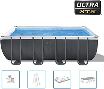 sanhuanmao Intex Ultra XTR Frame 26356GN - Piscina Rectangular ...