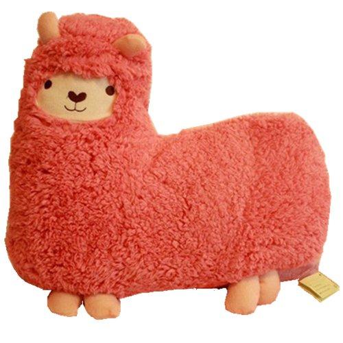 Bolster Toy Aunt Merry Mokomoko Llama Alpaca Hug Pillow Cushion Doll (2 per pack, Pink)