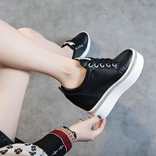 De Zapatos Zapato Grueso Mujer black Agua 10 Único De Cm Altura Taladro De De En de KPHY Zapatos Interior El mujer Muffin Ocio De Zapatos Joker Pretty Fondo FP5Sqg