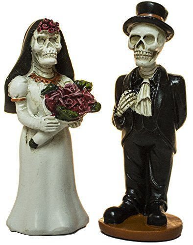 Ganz Set of Two 3 Inch Halloween Skeleton Bride and Groom (Bride And Groom Skeleton)