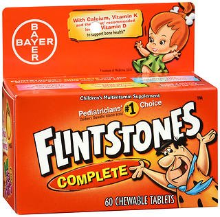Flintstones Chewable Tablets Complete 60 ea (Pack of 2)