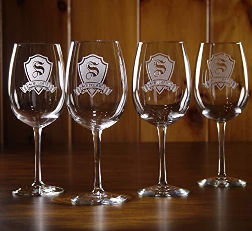 Engraved Wine Glasses, Custom Gift SET OF 2 (m30)