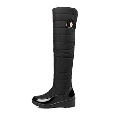 TANGOGO Damens Winter Stiefel Warm Warm Warm Knee High Stiefel a714f7