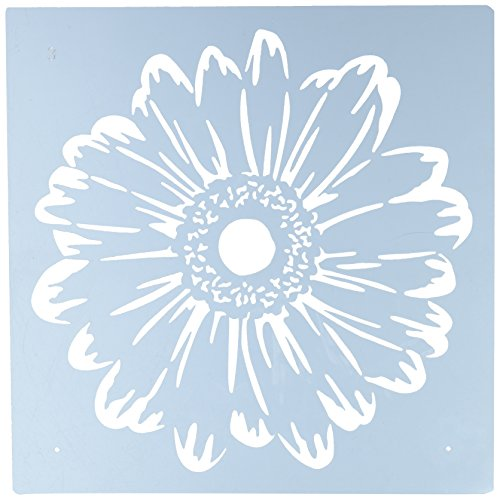 Stencil Flower (Faux Like a Pro Flower Power Wall Stencil, 10.5 by 10.5-Inch, Overlays: Two)