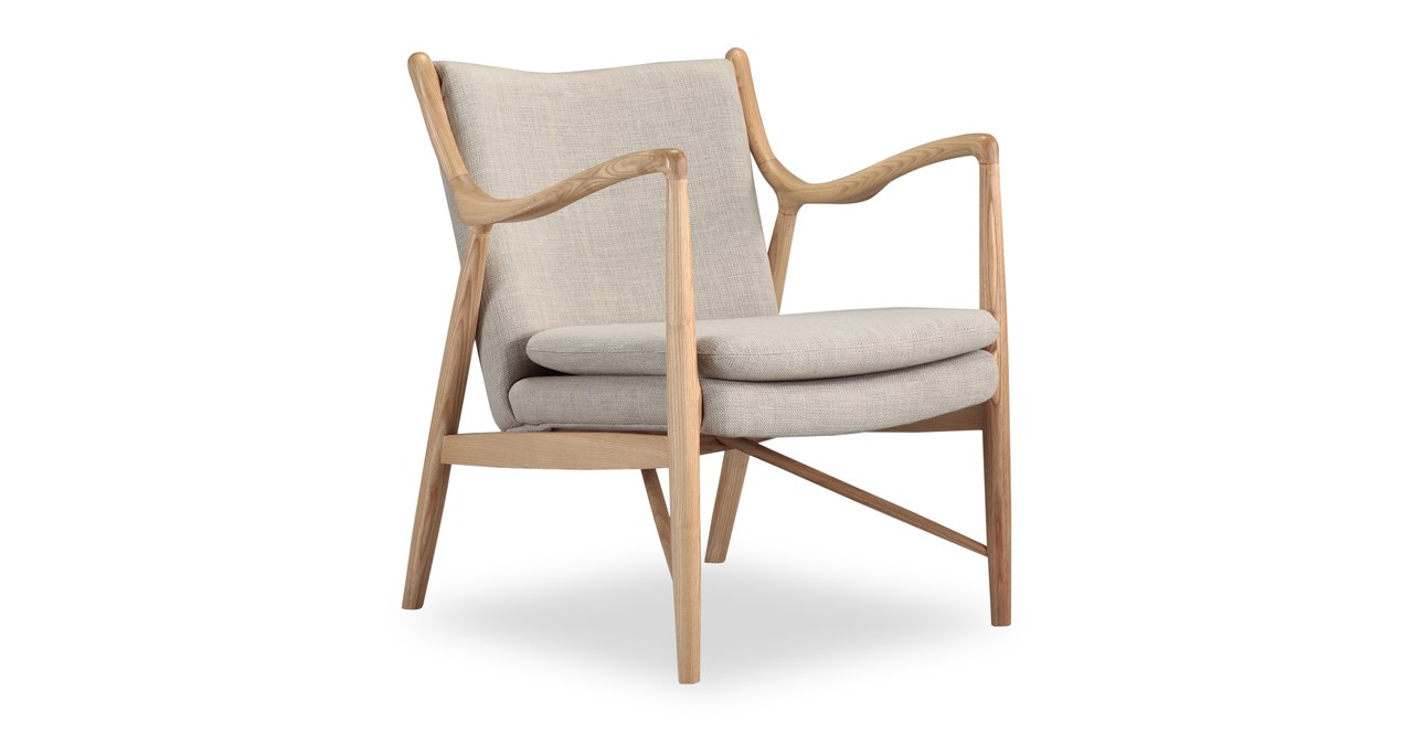 Modern farmhouse style linen arm chair