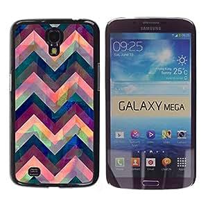 Paccase / SLIM PC / Aliminium Casa Carcasa Funda Case Cover para - Iridescent Pink Purple Blue - Samsung Galaxy Mega 6.3 I9200 SGH-i527