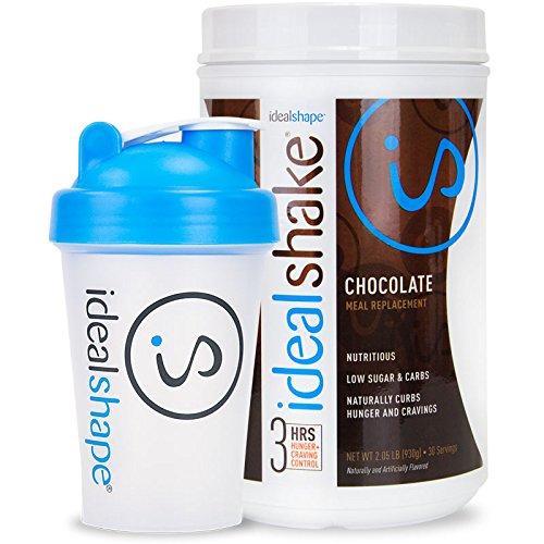 Remplacement IdealShape repas Agiter 30 service à remous et Shaker Bottle (chocolat)