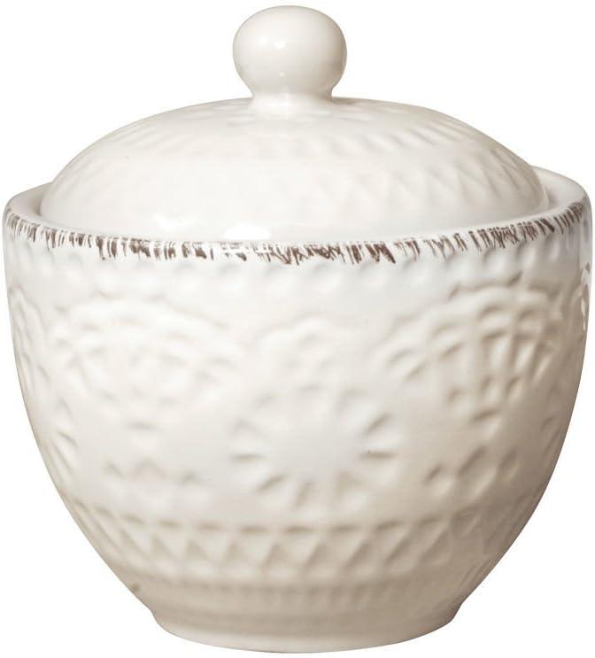 Pfaltzgraff Chateau Cream Sugar Bowl with Lid, cream, white, 5.5 inches