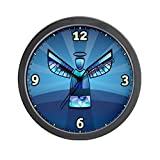 Wall Clock Contemporary Abstract Stained Glass Angel