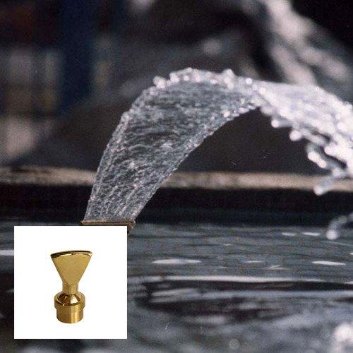 Aquacade Fountains Brass DN40 1 1/2'' Narrow Fan Jet Fountain Nozzle