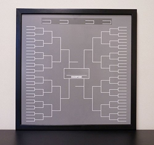 24''x24'' Sports Tournament Bracket Dry Erase Board Black ''Chalkboard'' White Board by Tailor Made Whiteboards