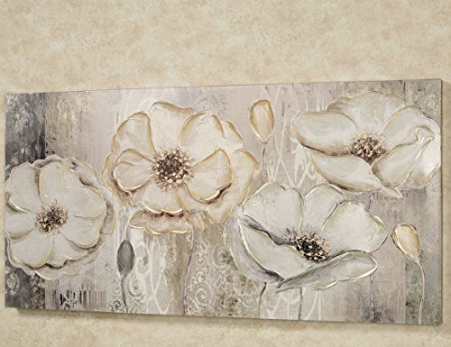 Touch of Class Floral Elegance Canvas Wall Art Beige