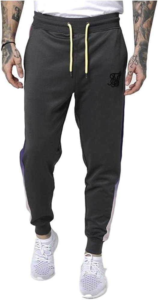 Sik Silk Pantalón de chandal Cropped Urban Gris y Neon: Amazon.es ...