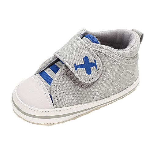 LNGRY Baby Shoes,Toddler Infant Kids Girls Boys Airplane Stripe Anti-Slip Soft Sole...