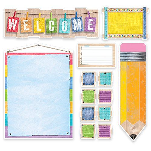 Creative Teaching Press Upcycle Style Welcome Bulletin Board (7054) by Creative Teaching Press