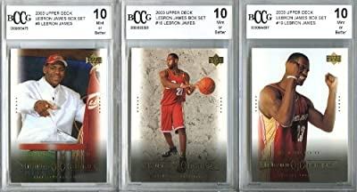 2003 Upper Deck Lebron James Rookie Collection of THREE(3) Cards all Graded BECKETT 10 MINT !! Awesome High Grade Rookie Cards of NBA World Champion !