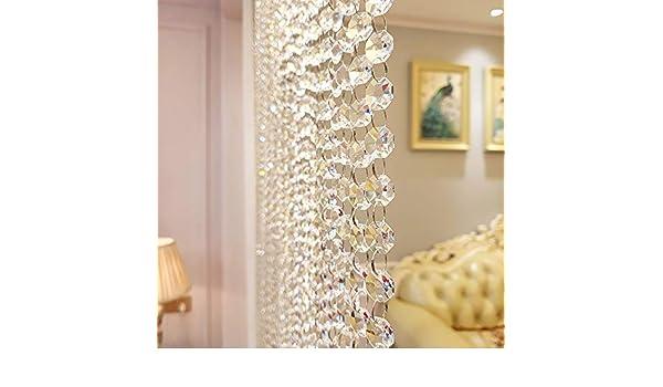 GuoWei-Cortinas de Cuentas Cristal Vaso Puerta Salón Dormitorio Decoración Moderno, Personalizable (Color : A, Size : 35 strands-90x220cm): Amazon.es: Hogar
