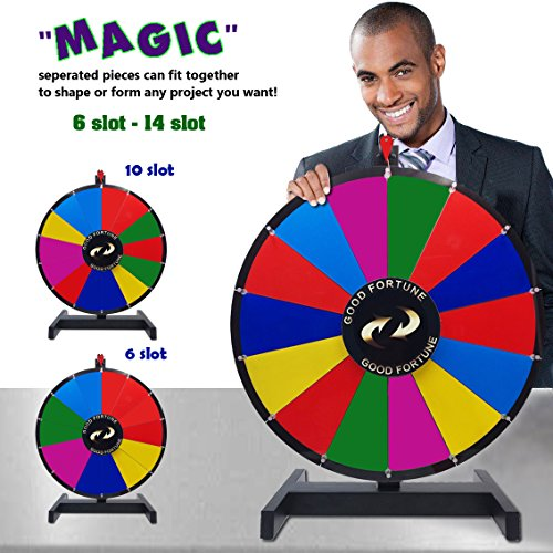 Alice Magic Spinning Wheel Spin to Win Wheel Game for Prize 14 Slots - Recombination for More Possibility (24 inch)