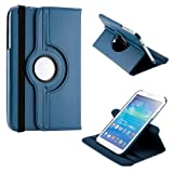"Gizmo Dorks 360 Rotating Case Stand Cover for Samsung Galaxy Tab 3 P8200 8"" (Blue)"