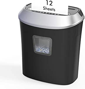 Paper Shredder,12-Sheet Cross-Cut Paper/CD/Credit Card Shredder, 5.8 Gallons Shredder for Home Office Use with Pullout Basket,Overload and Overheating Protection