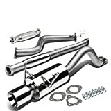 "Honda Civic Del Sol Stainless Steel 4"" Rolled Muffler Tip Catback+Exhaust Pipe System"