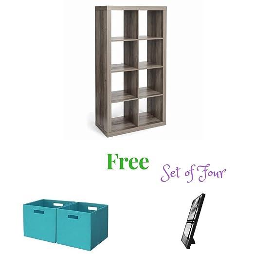 Better Homes and Gardens Furniture 8-Cube Room Organizer Storage Divider Bookcase White