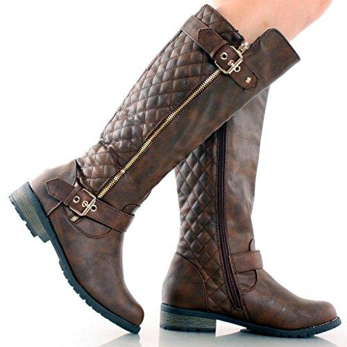 JJF Schuhe für immer Link Mango-21 Lady Boot Brown_b-32