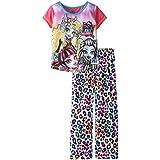 Monster High Big Girls' Leopard Short Sleeve Pant Set