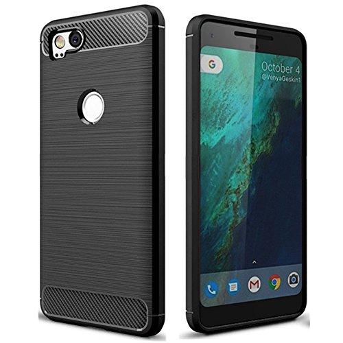 Pixel 2 Case, Google Pixel2 Case, Cruzerlite Carbon Fiber Shock Absorption Slim case for Google Pixel 2 (2017)