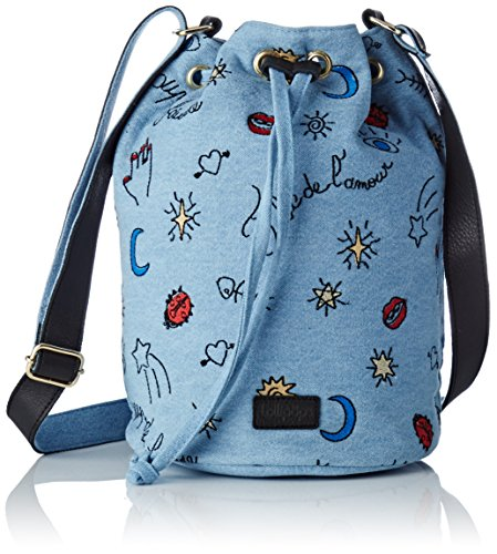 Lollipops Damen Boudeuse Bourse Schultertasche, Blau (Denim), 18x28x18 centimeters