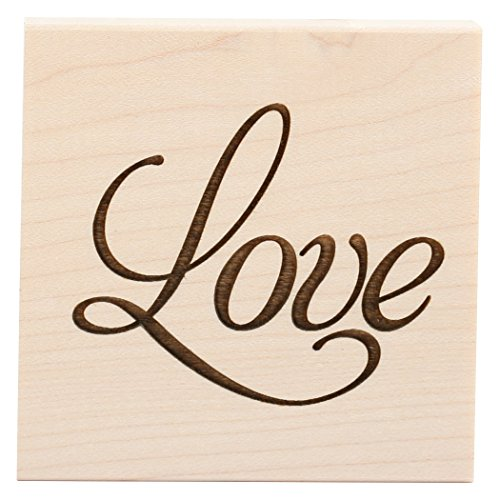 Love Mounted Rubber Stamp - CLEARSNAP Wood Mount Stamps, Love