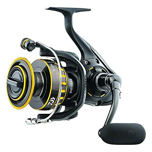 (Daiwa BG8000 BG Saltwater Spinning Reel, 8000, 5.3: 1 Gear Ratio, 6+1 Bearings, 53.30
