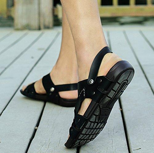 Icegrey - Zapatos de Punta Descubierta Hombre negro