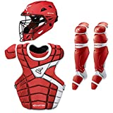 Easton M10 Youth Custom Catchers Set, Red/White