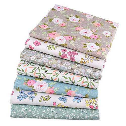 - Quilting Fabric,Multi Color Fat Quarters Fabric Bundles,Print Floral Quilt Fabric for Sewing Crafting,18