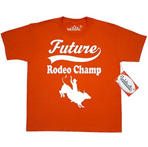 Inktastic Big Boys' Future Rodeo Champ Bull Rider Youth T-Shirt Youth Small (6-8) Burnt Orange
