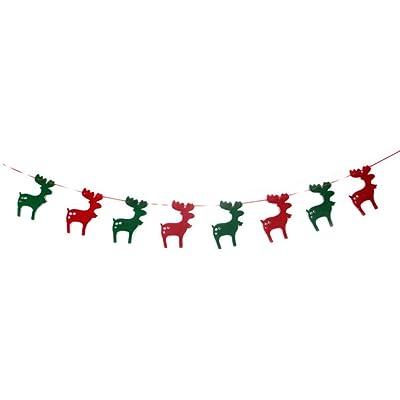 Plzlm Elk Navidad Bunting Banner Garland Poner Banderas del Partido de Navidad Árbol del indicador Decoración: Hogar