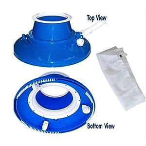 USA Premium Store Swimming Pool Leaf Eater Gulper Vacuum w/Wheels/Bristle Brush, Standard Mesh Bag