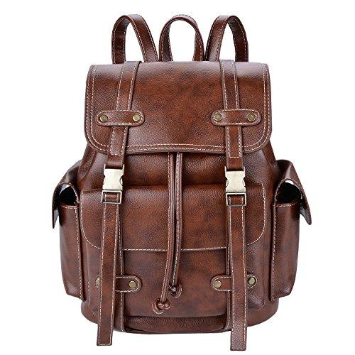 Leather Backpack,Coofit Vintage Satchel Backpack Purse Womens Rucksack Backpack for Girls