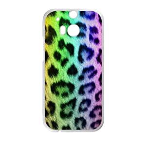 HTC One M8 Cell Phone Case White Snow leopard dihm