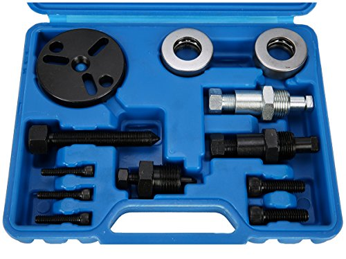 8MILELAKE Air Compressor Clutch Rebuild Removal Tool Kit AC Clutch Puller  Compatible for GM, Ford, Chrysler Auto Air Conditioning Remover Installer