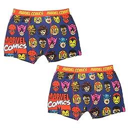 (Pack of 2) MARVEL COMICS (IRON MAN, SPIDERMAN) Boys Boxer Shorts 11-12 Multicolor