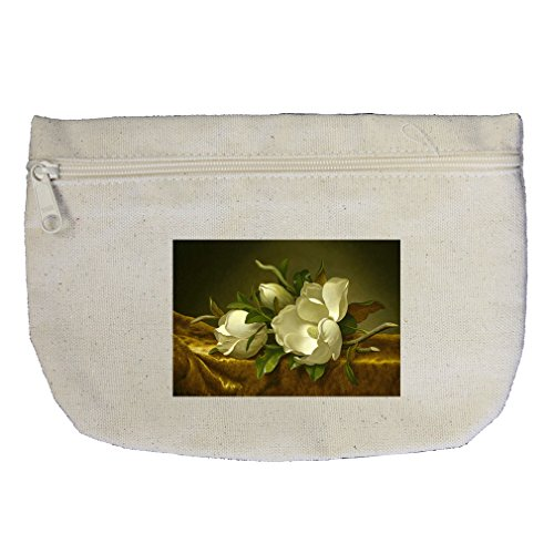 Magnolias Gold Velvet Cloth (Mj Heade) Canvas Makeup Bag Zippered Pouch ()