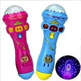 Ocamo Children Flash Stick Microphone, Kids Cute Pig LED Light Up Colorful Flashing Toy, Starry Flashlight Toys