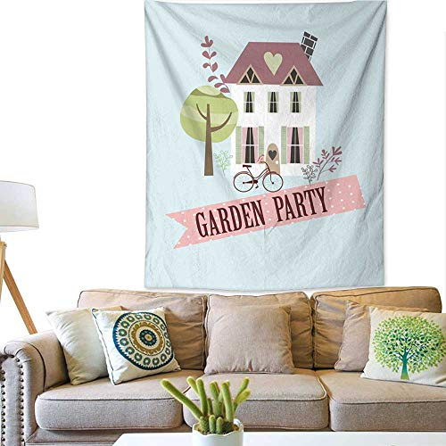 BlountDecor Dormitory Tapestry Garden Party Invitation Card 51W x 60L INCH ()