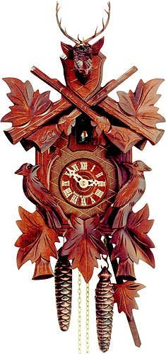 German Cuckoo Clock 1-day-movement Carved-Style 20.00 inch – Authentic black forest cuckoo clock by Hekas