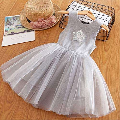 Voitery Clothing Set Formal Clothes Kids Fluffy Cake Smash Dress Girls Clothes for Christmas Halloween Outfits 8T Gray 1 7 -